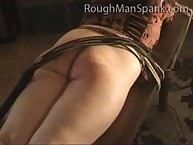 Raunchy flapper gets cruel spanks on her tush