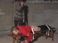 Blonde missy was spanked hard