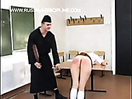 Russian Discipline. Wooden paddle for a schoolgirl