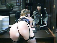 Boss spanked severe her secretary