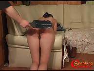 Busty babe got paddling spanking