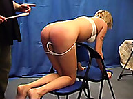 Fay - spanking experience with hand & wooden spoon
