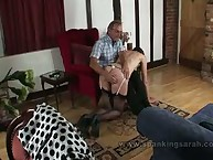 Slutty Sarah Loves Getting Spanked Hard