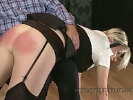 Raunchy minx gets fell whips on her nates