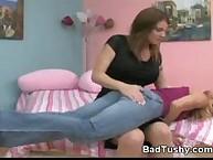 Home spanking and hard fetish
