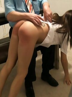 12 of Hard spanking brunette girl