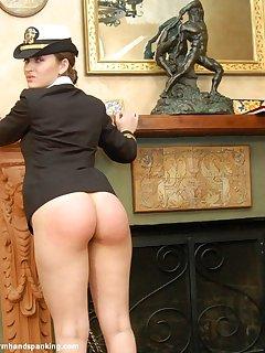 12 of Corinne Hopkins bubble butt strapped bare