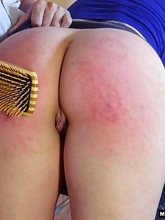 16 of Hard spanking with hand and hairbrush