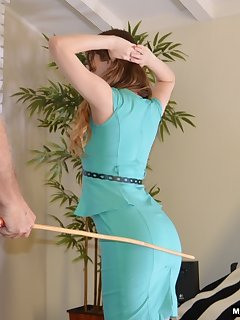 16 of She receives a long hard caning