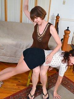 16 of Nikki Knightly was spanked