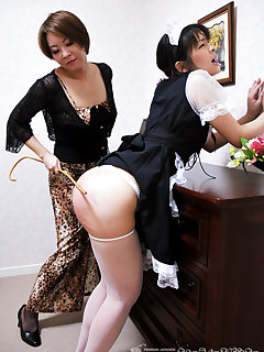 8 of Maid get cruel caning