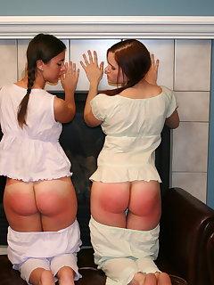 8 of Sarah uniform spanking